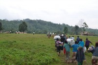 Villagers fleeing their homes in Kachin state after fighting broke out in January, 2015. (Photo: KBC Kachin)